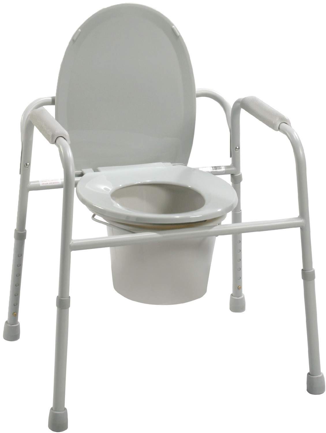 Bedside Commode with Bucket and Splash Guard