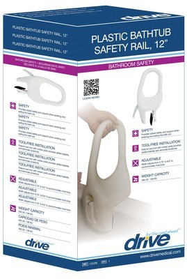 Drive bathtub Safety Rail 12''
