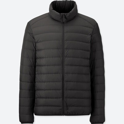 UNIQLO ULTRA LIGHT DOWN JACKET - SEM CAPUZ (BLACK) - MASCULINO