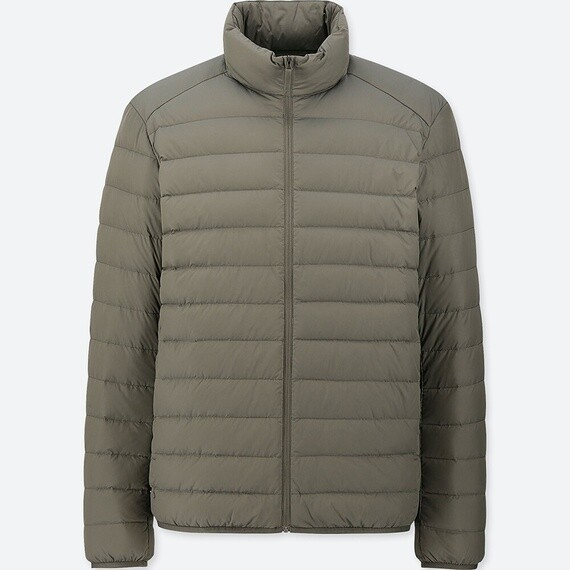 UNIQLO ULTRA LIGHT DOWN JACKET - SEM CAPUZ (OLIVE) - MASCULINO