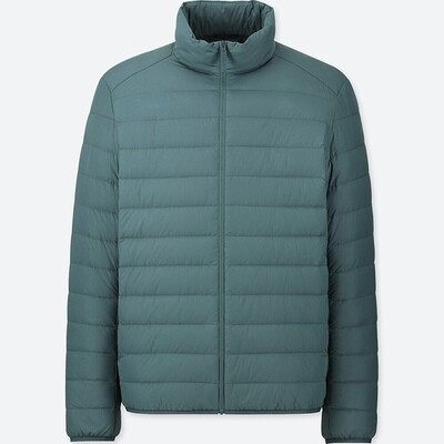 UNIQLO ULTRA LIGHT DOWN JACKET - SEM CAPUZ (GREEN) - MASCULINO