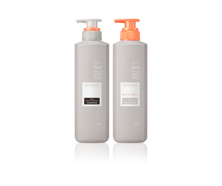 Essential flat Moist & Moist - SHAMPOO & TREATMENT (KIT @milena.mf40)