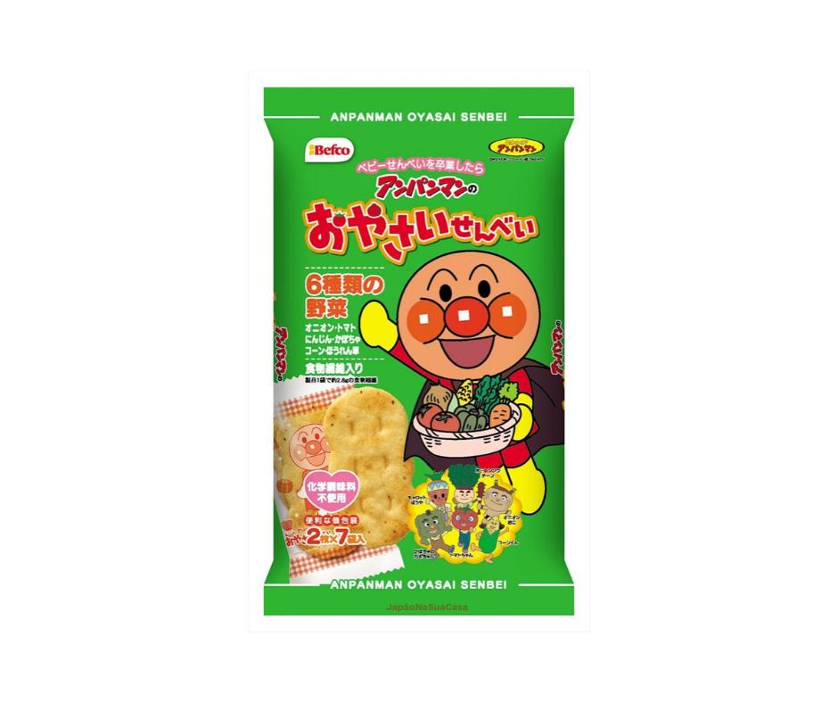 Anpanman Oyasai Senbei - Japanese Rice Snack