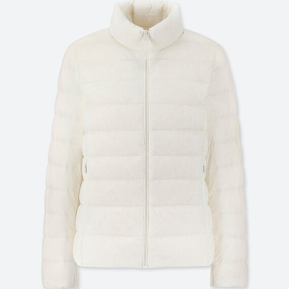 UNIQLO ULTRA LIGHT DOWN JACKET - SEM CAPUZ (OFF WHITE) - FEMININO