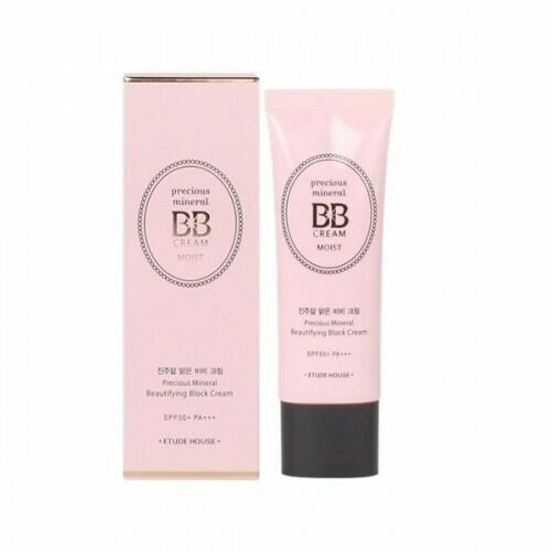 ETUDE HOUSE Precious Mineral Beautifying Block BB Cream Moist SPF50+PA+++ (Cor Beige)