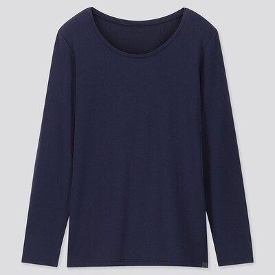 Uniqlo HEATTECH EXTRA WARM CREW NECK T-SHIRT