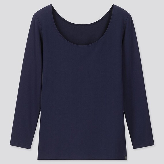 Uniqlo HEATTECH EXTRA WARM SCOOP NECK T-SHIRT