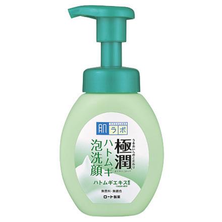HadaLabo Gokujyun Hatomugi (Pearl Barley) Bubble Face Wash