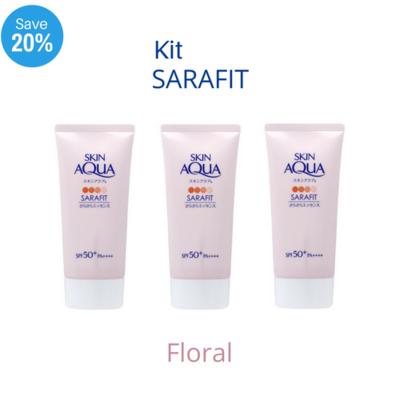 PROMOÇÃO - SKIN AQUA Sarafit UV Aqua Floral- 3 unidades