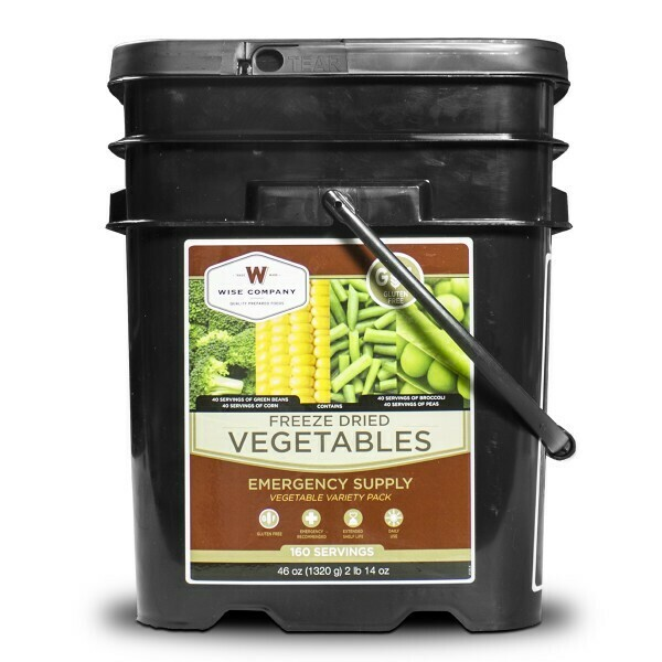 160-Serving Gluten-Free Freeze Dried Vegetables Bucket