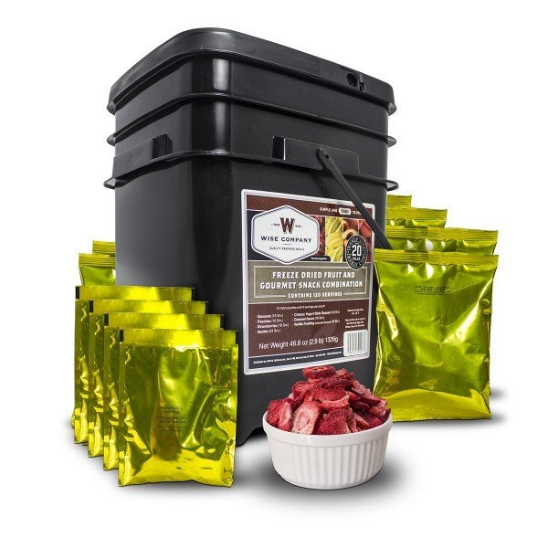 120-Serving Freeze Dried Fruit and Snacks Bucket