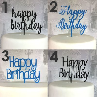 Happy Birthday Cake Topperschoose Your Style