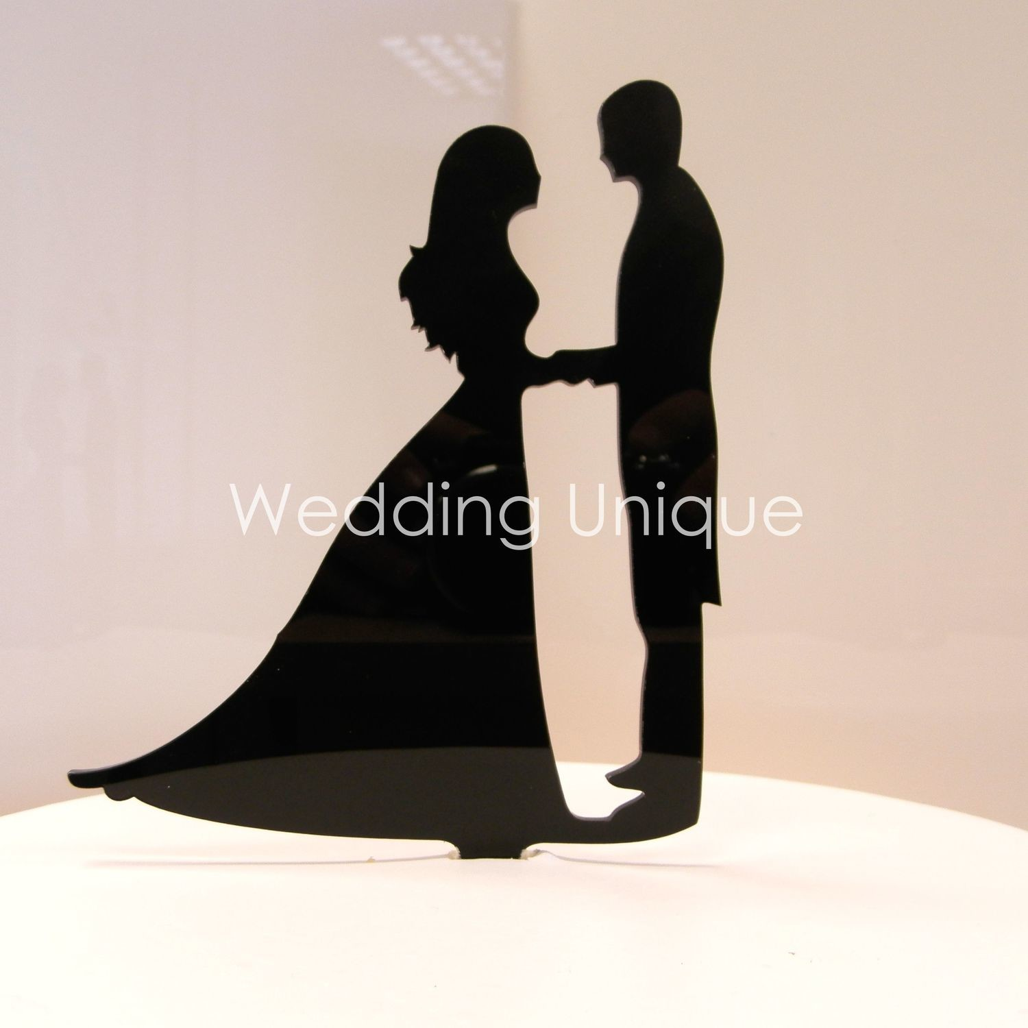 c46d7390c10782 Bride and Groom silhouette Cake Topper, Wedding cake topper