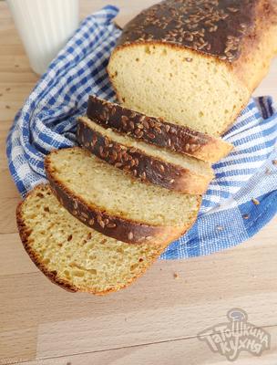 Хлеб с семенами льна