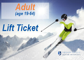 Lift Ticket ADULT (Ages 19-64) 1 day