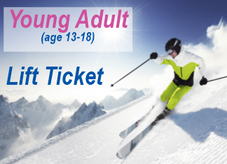 Lift Ticket YOUNG ADULT (13-18)  1 day