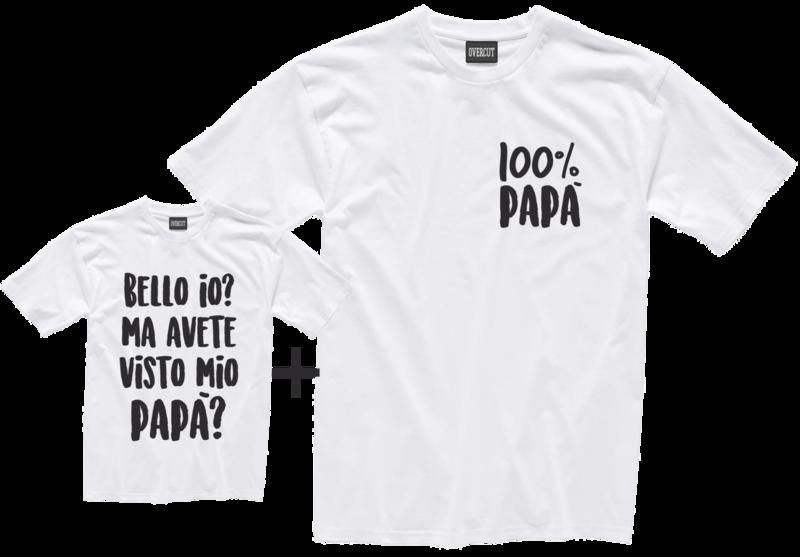 2 T-shirt PAPA' e FIGLIO
