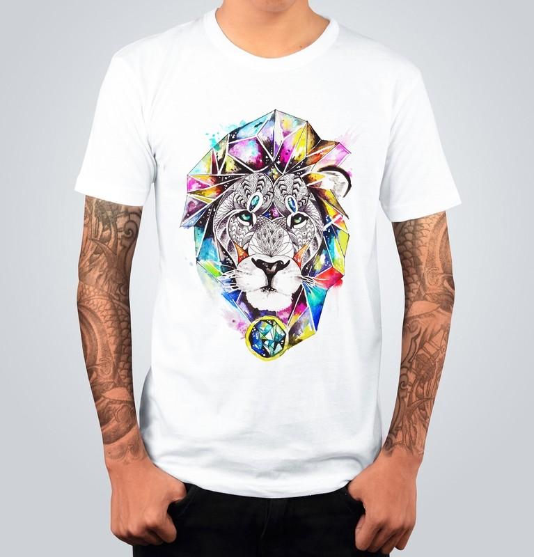 T-shirt COLORFUL LION Bianca