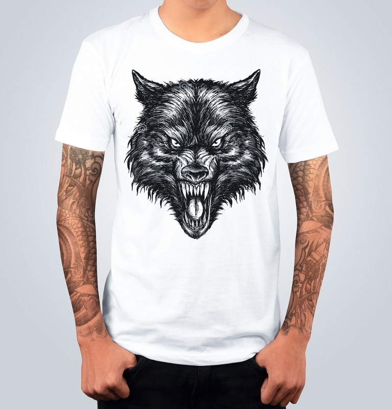 T-shirt THE WOLF Bianca