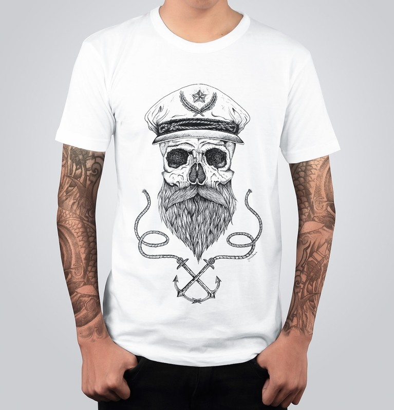 T-shirt TESCHIO MARINAIO Bianca