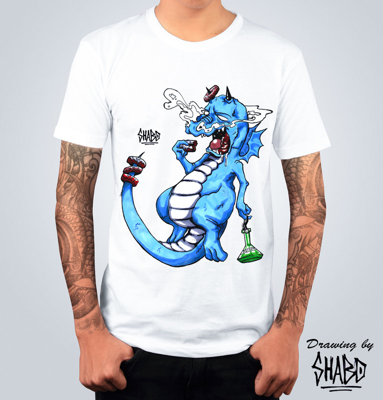 T-shirt Drago Bianca