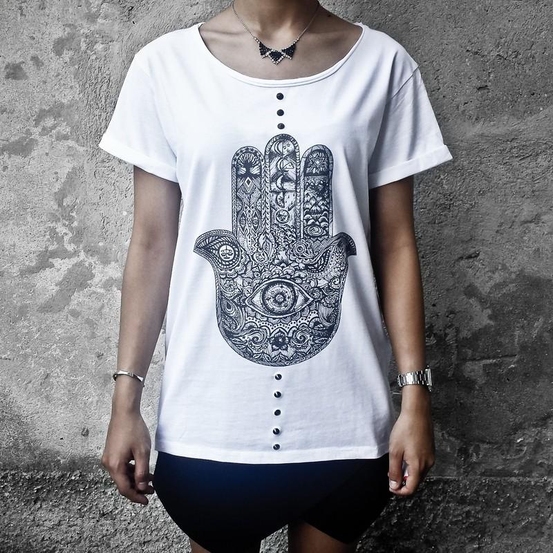 T-shirt FATIMA con borchie