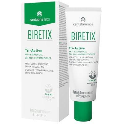 BIRETIX TRIACTIVE 50_ml. Acción exfoliante ayudan a liberar los poros obstruidos, asegurando una piel más limpia y suave.