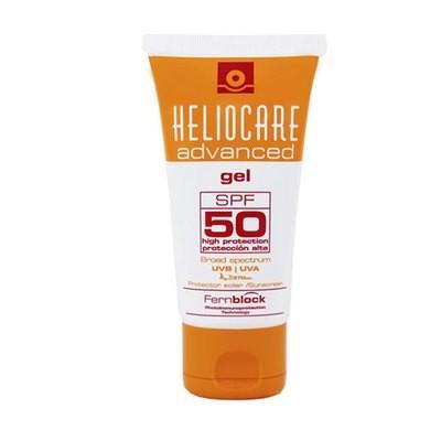 HELIOCARE  ADVANCE GEL SPF 50  50ml. Con ingredientes antioxidantes y reparadores del daño solar con textura gel, sin alcohol, que se absorbe fácilmente