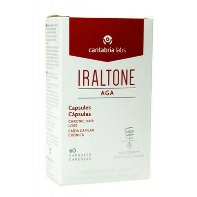 IRALTONE AGA  60 CAP. Para hombres y mujeres como complemento a los tratamientos de caída del cabello de origen androgenético.