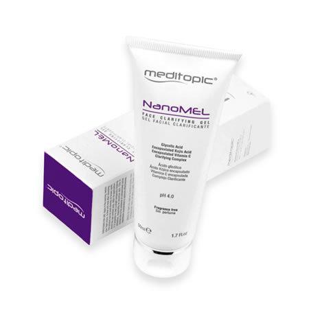NANOMEL Gel Despigmentante 75ml. MEDITOPIC. Actúa en esas tres etapas de la pigmentación para asegurar un efecto clarificante óptimo.