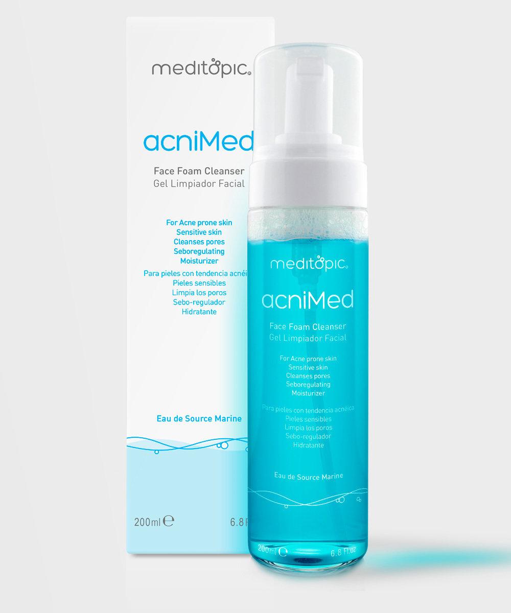 AcniMED. Cleanser Espuma 200ml.  MEDITOPIC. Limpia los poros, purifica la piel, elimina el exceso de grasa y le da a la piel una apariencia más limpia y saludable.