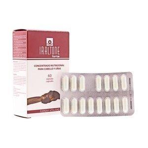 IRALTONE FORTE 60 CAP. Cabello y Uñas. Indicado para cabello frágil, fino, lacio, sin volumen, sin brillo, y/o con acentuada caída.