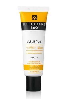 HELIOCARE 360 Gel Oil Free.  SPF50.  Cobertura completa frente: UVB, UVA, IR-A y Radiación Visible. Sistema Antibrillo. Pieles grasas.
