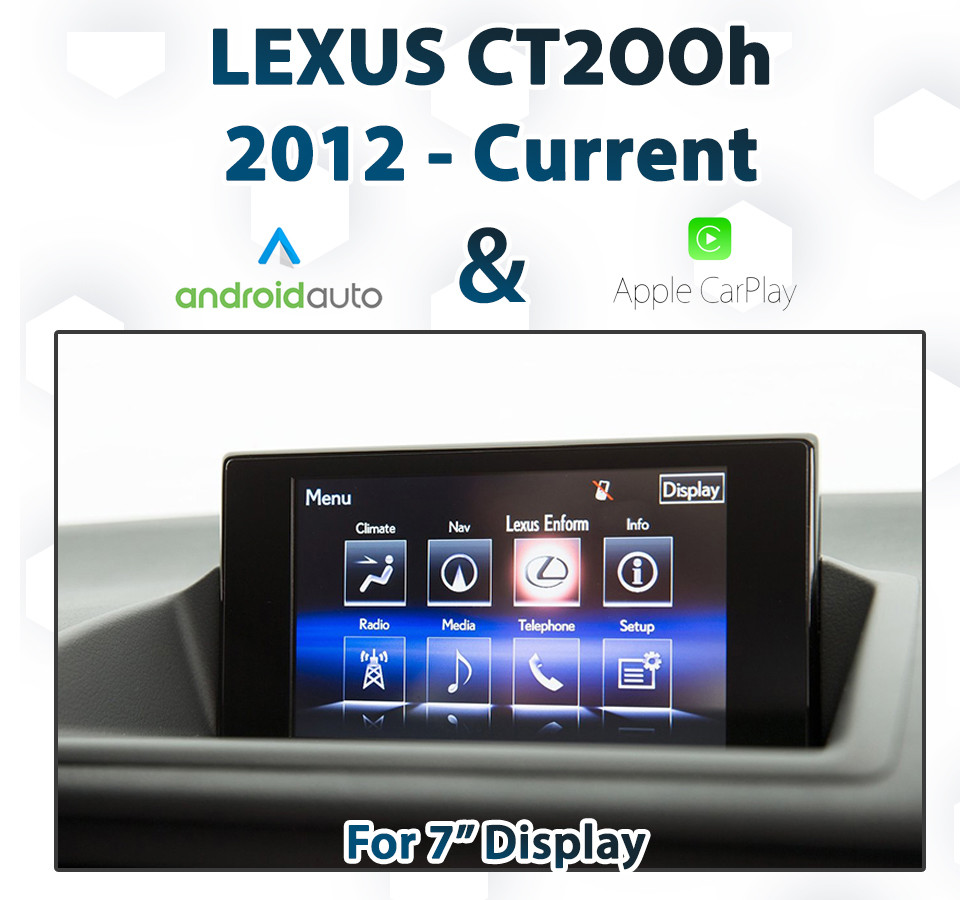 Lexus Apple Carplay >> Lexus Ct200h Factory Audio Integrated With Touch Overlay Carplay And Android Auto Upgrade