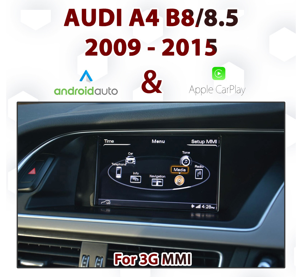 Touch Android Auto & Apple CarPlay Integration - For Audi A4 B8/8 5 3G MMi  Audio