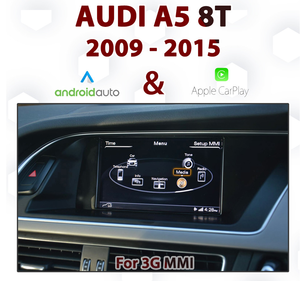 Touch Android Auto & Apple CarPlay Integration - For Audi A5 8T 3G MMi Audio