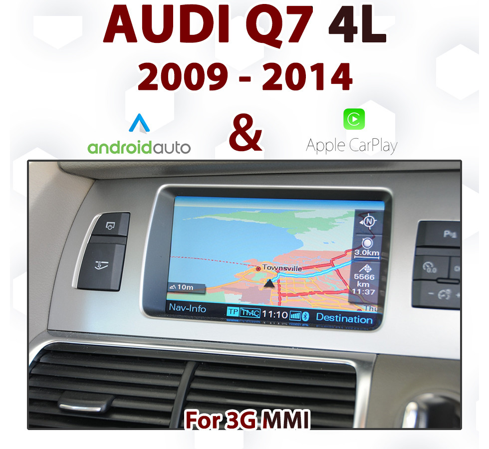 Touch Android Auto & Apple CarPlay Integration for Audi Q7 4L from 2009 to  2014, with 3G MMi