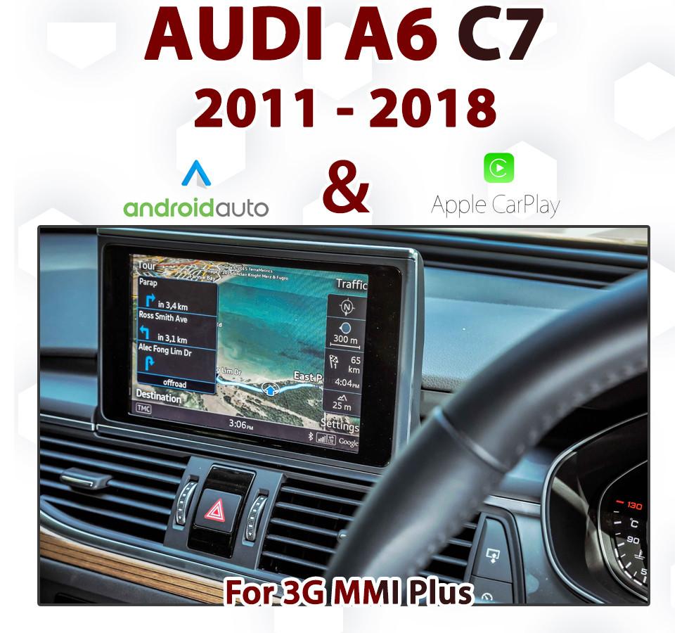 Touch Apple CarPlay for Audi A6 C7 Series 2012 to 2016 3G MMi Plus Audio  Integrated Apple CarPlay Retrofit Kit