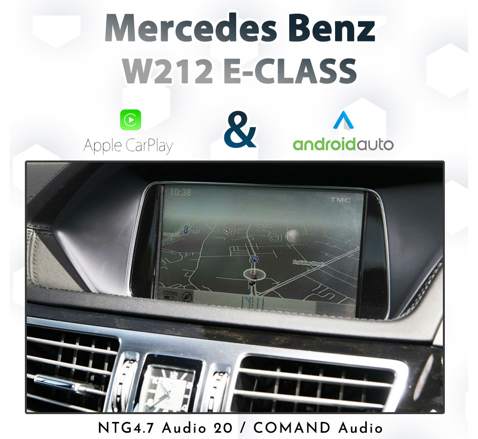 Mercedes Benz E-Class W212 / C207 2011- 2015 : Audio Integrated Touch  Android Auto & Apple CarPlay