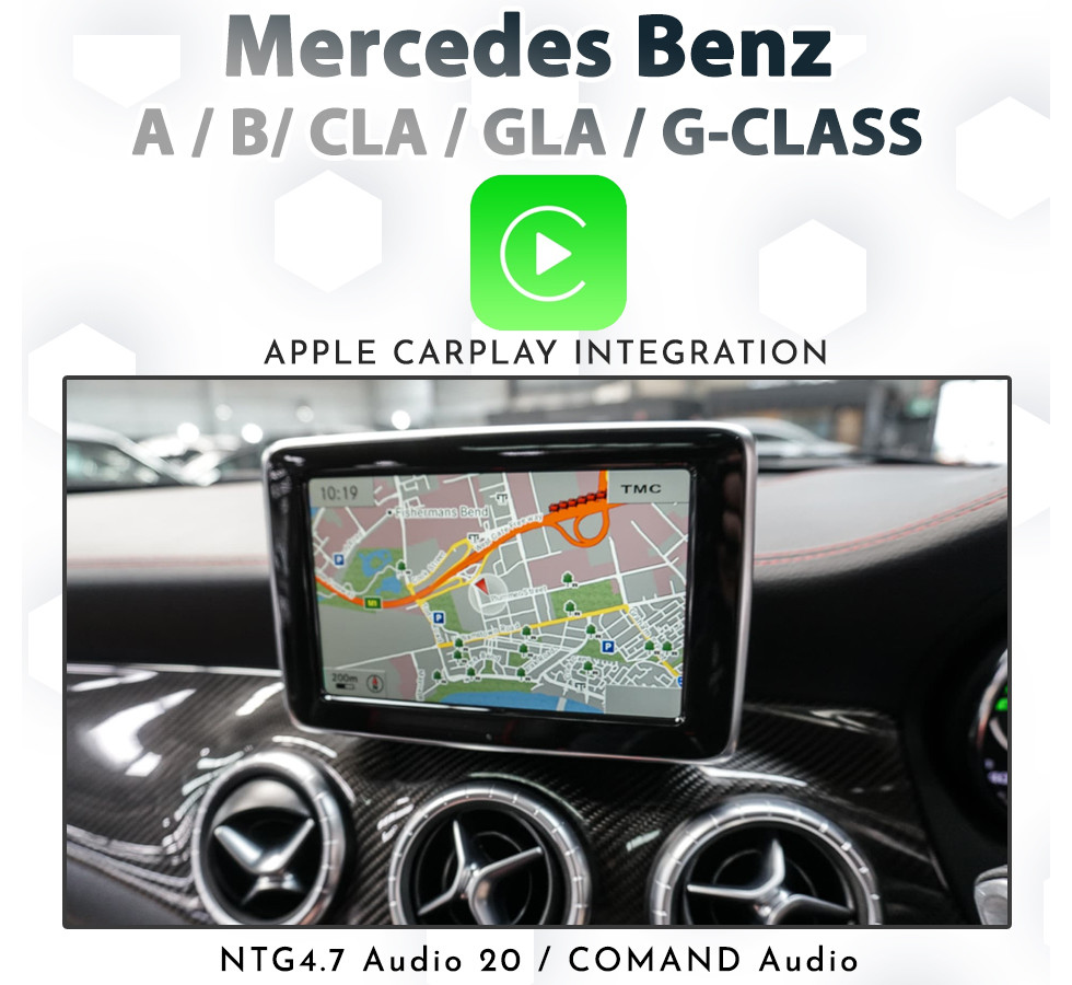 Mercedes Benz NTG 4 7 Audio 20 / COMAND Apple CarPlay Retrofit Kit for A /  B / CLA / GLA and G Class