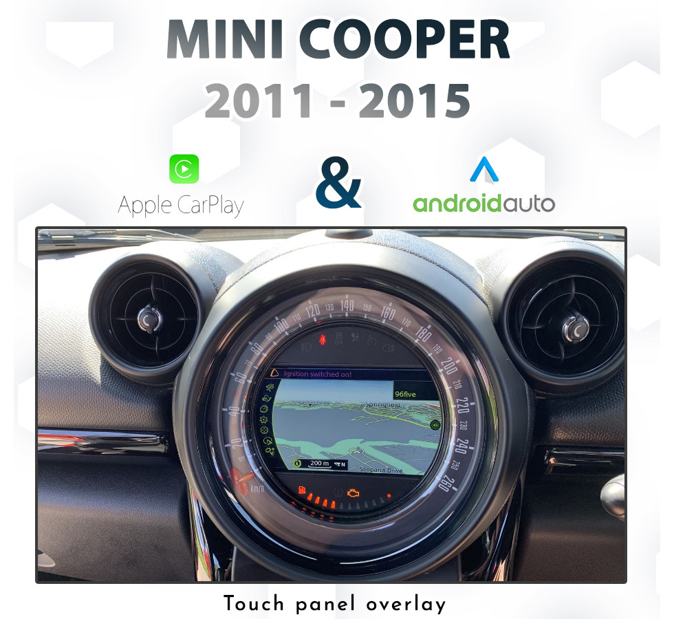 [2010-2015] Mini Cooper Factory iDrive Integrated Touch Apple CarPlay &  Android Auto pack