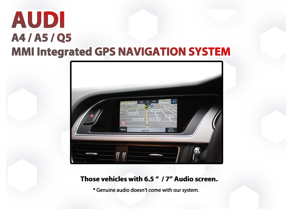 Audi A4 B8 - Factory 3G Audio Screen Add-on GPS Navigation MAP Upgrade SAT  NAV