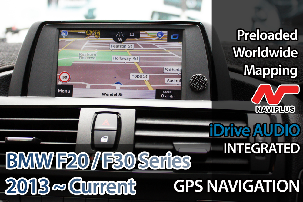 [2012 - Current] BMW F30 3 Series iDrive Add-on Touch GPS Navigation  Upgrade System