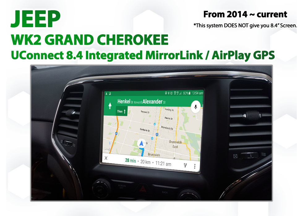 jeep grand cherokee uconnect 8 4 integrated smartphone mirrorlink airplay gps system. Black Bedroom Furniture Sets. Home Design Ideas