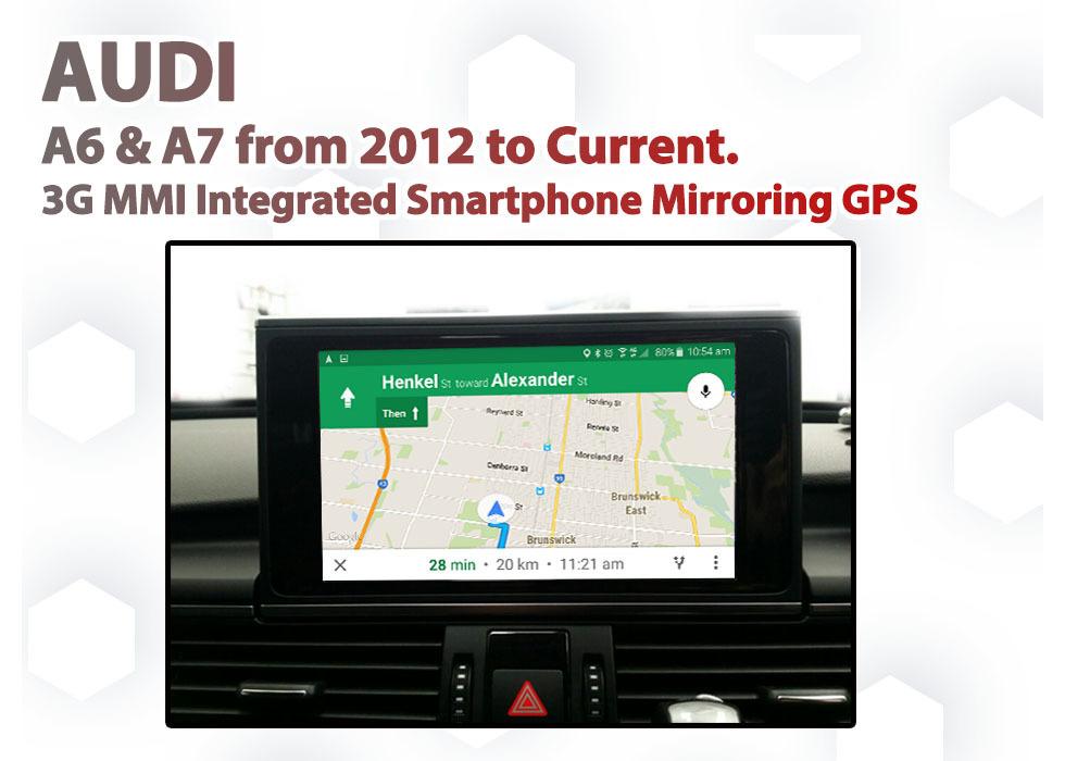 Audi A6 C7 - Audio Smartphone MirrorLink / AirPlay GPS SAT NAV navigation