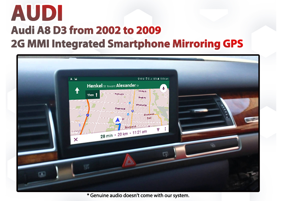 Audi A8(D3) 2G MMI - Audio Integrated Smartphone MirrorLink / AirPlay GPS  system