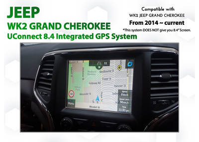 [2013 - Current] Jeep WK2 Grand Cherokee UConnect 8 4 Add-on GPS Navigation  latest Map upgrade system