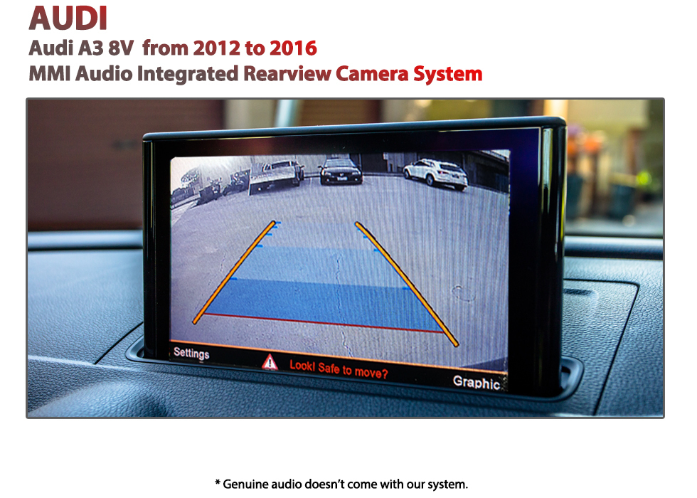 AUDI A3 3G 8V MMI Rearview Camera System Reverse active guide line dynamic