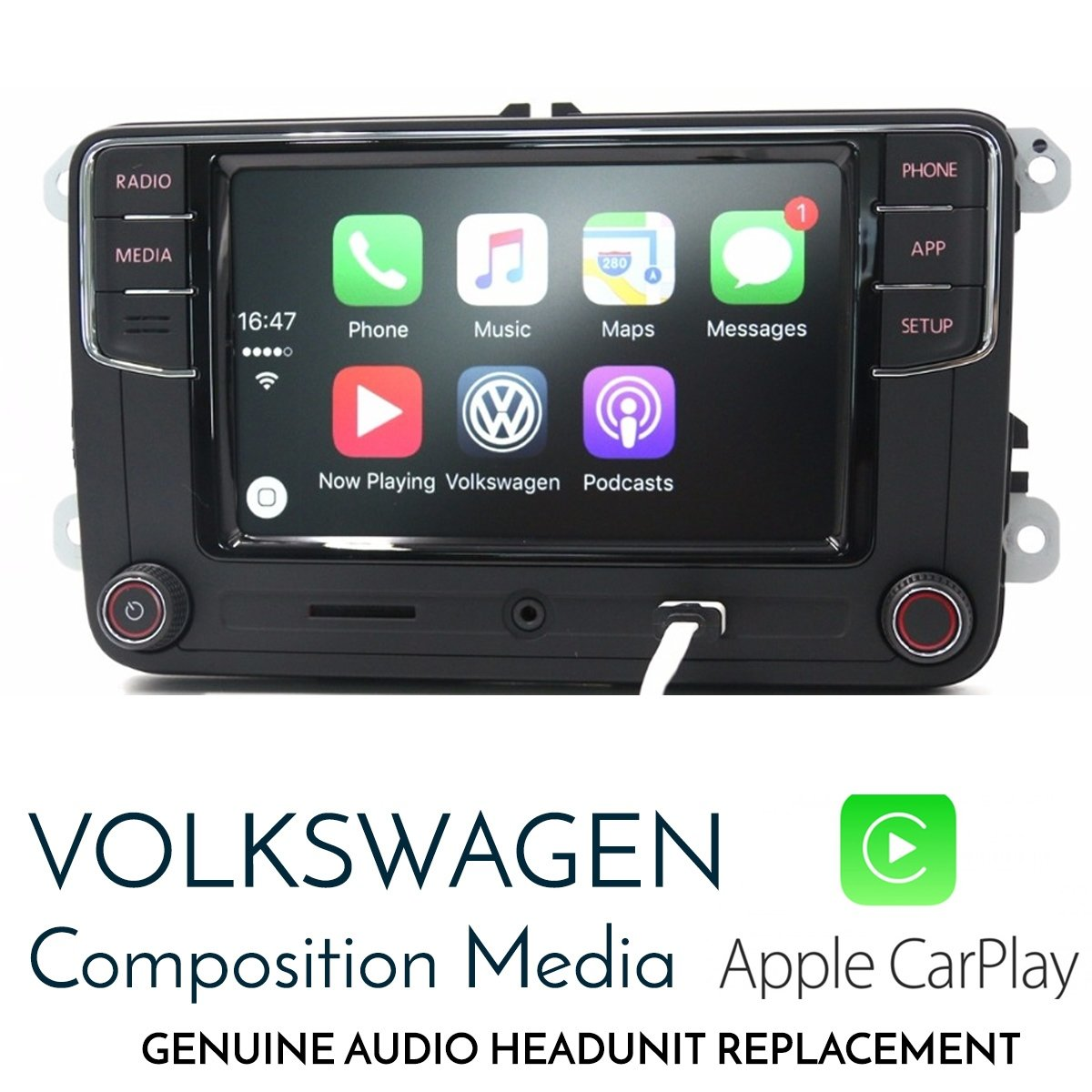 Volkswagen OEM RCD330 - Apple Carplay integrated replacement headunit