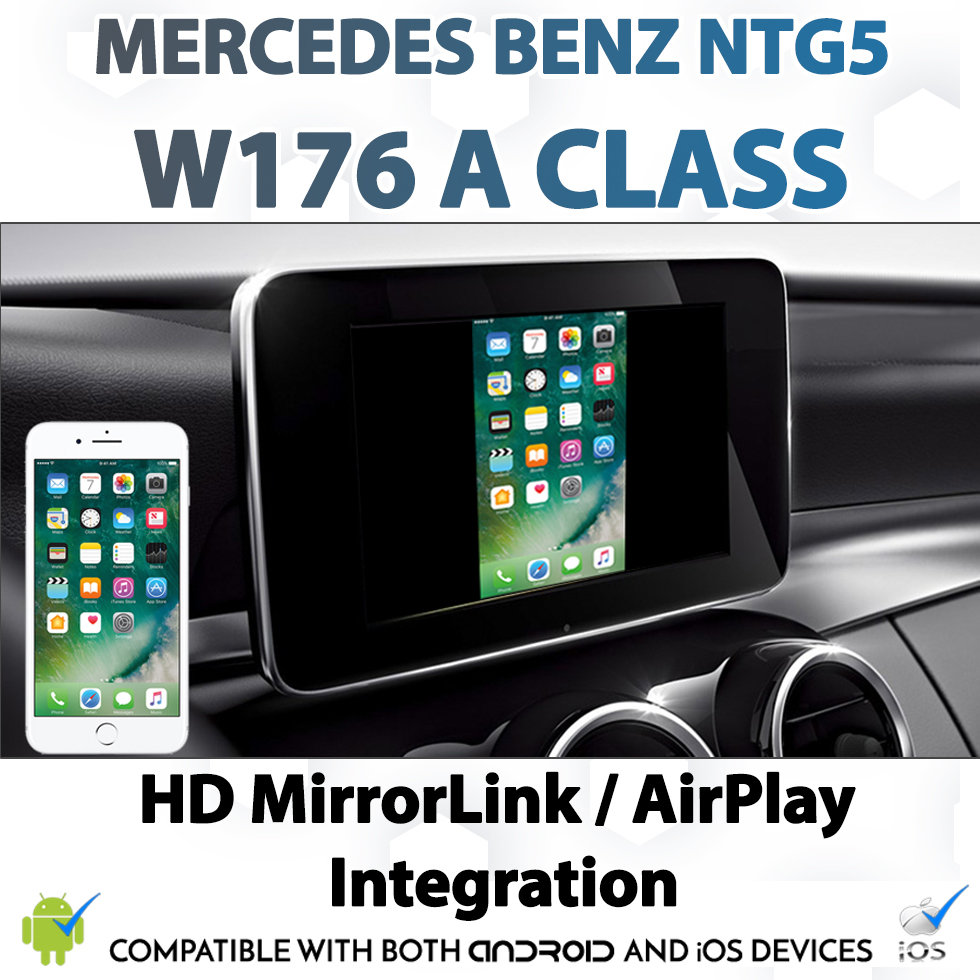 [NTG5] Mercedes Benz A Class Android MirrorLink Apple AirPlay Mirroring  Integration Install Upgrade Kit